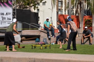 Spyke ball - Pershing Park - Downtown - Los Angeles